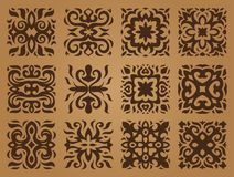 Ethnic patterns in the form of tiles. Asian or celtic ethnic patterns for decoration in the form of tiles Stock Photos