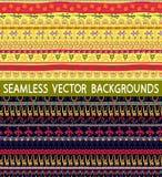 Ethnic patterns line Stock Image