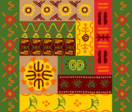 Ethnic patterns and ornaments Stock Photo