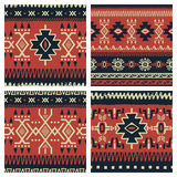 Ethnic patterns set 001 Stock Images