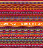 Ethnic patterns Royalty Free Stock Images