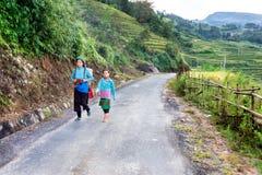 Ethnic people walking to work Royalty Free Stock Image