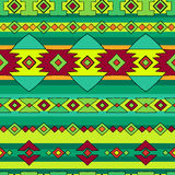 Ethnic peru pattern. Ethnic native peru pattern, bright bohemian seamless pattern Stock Image