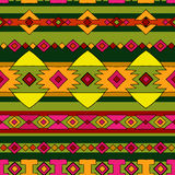 Ethnic peru pattern. Ethnic native peru pattern, bright bohemian seamless pattern Royalty Free Stock Images
