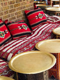 Ethnic place. A ethnic bar with oriental/african colors and tools Stock Photography