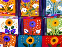 Free Ethnic Placemats With Floral Patterns And Geometric Shapes Royalty Free Stock Image - 129371016