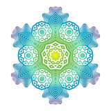 Ethnic Psychodelic Fractal Mandala Vector Meditation looks like Royalty Free Stock Photography