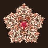 Ethnic Psychodelic Fractal Mandala Vector Meditation looks like Stock Image