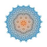 Ethnic Psychodelic Fractal Mandala Vector Meditation looks like Royalty Free Stock Images
