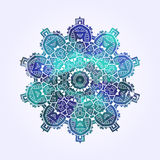 Ethnic Psychodelic Fractal Mandala Vector Meditation looks like Stock Photography