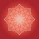 Ethnic Psychodelic Fractal Mandala Vector Meditation looks like Royalty Free Stock Photos