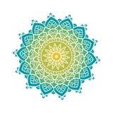 Ethnic Psychodelic Fractal Mandala Vector Meditation looks like Stock Photo