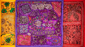 Ethnic Rajasthan cushions Royalty Free Stock Photo