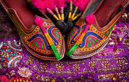 Ethnic Rajasthan shoes Stock Photography