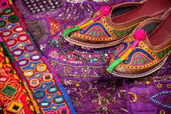 Ethnic Rajasthan shoes Royalty Free Stock Photography