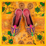 Ethnic Rajasthan shoes Royalty Free Stock Images