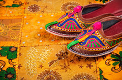 Ethnic Rajasthan shoes Royalty Free Stock Photo