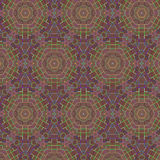 Ethnic retro abstract pattern. Gold and red. Stock Photos