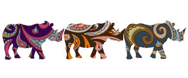 Ethnic rhino Stock Photo