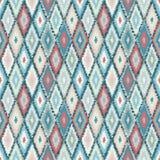 Ethnic rhombus tribal seamless pattern Stock Photos