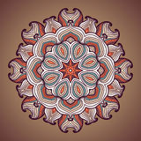 Ethnic round ornamental pattern. Royalty Free Stock Photography