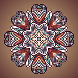 Ethnic round ornamental pattern. Stock Image