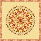 Ethnic round ornamental pattern Stock Photo