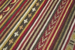 Ethnic Rug. Colorful Ethnic Rug Pattern detail royalty free stock photo