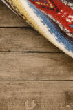 Ethnic rug with background Royalty Free Stock Photos