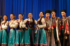 Ethnic russian songs Stock Photos