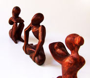 Ethnic sculpture. Photo of three ethnic sculptures royalty free stock photography