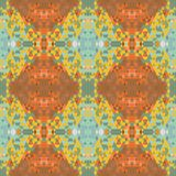 Ethnic seamless abstract vector pattern. Geometric seamless background. Yellow and orange colors, natural brown tone Stock Photos
