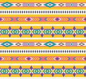 Ethnic seamless aztec pattern. Ethnic seamless aztec vector pattern Royalty Free Stock Photo