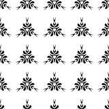 Ethnic seamless black pattern on white background Royalty Free Stock Image