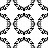 Ethnic seamless black pattern on white background Royalty Free Stock Photo