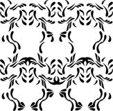 Ethnic seamless black pattern on white background Stock Photos