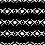 Ethnic seamless black and white background. Tribal illustration. Handmade. Doodle. Simple vector Royalty Free Stock Photo