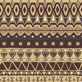 Ethnic seamless colorful pattern. Vector illustration drawn by hand Stock Photography