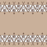 Ethnic seamless geometric pattern. Empty space for your text. Royalty Free Stock Photos