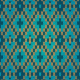 Ethnic seamless knitted pattern Royalty Free Stock Images