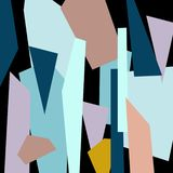 Geometric illustration, abstract royalty free illustration