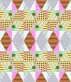 Ethnic seamless patchwork pattern. Geometric tribal ornament. Stock Image