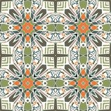 Ethnic seamless pattern. Abstract geometric tribal ornament. Colorful aztec background. Stock Images