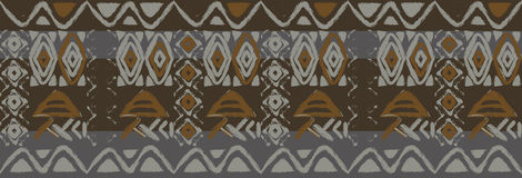 Ethnic seamless pattern with american indian Royalty Free Stock Images