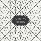 Ethnic seamless pattern with arrows. Hand drawn Royalty Free Stock Images