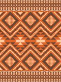 Geometric seamless pattern in ethnic style. Ethnic seamless pattern in autumn colors. Aztec, boho, tribal, native fabric Royalty Free Stock Images