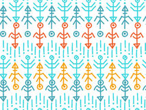 Ethnic seamless pattern. Aztec background. Vector Royalty Free Stock Photo