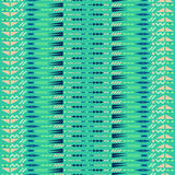 Ethnic seamless pattern. Aztec fabric design. Ethnic seamless vector pattern. Aztec mint and blue fabric design with geometric shape elements Royalty Free Stock Photography
