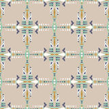 Ethnic seamless pattern. Aztec geometric background. Hand drawn navajo fabric. Modern abstract wallpaper. Royalty Free Stock Photography