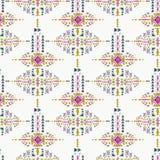 Ethnic seamless pattern. Aztec geometric background. Hand drawn navajo fabric. White bakdrop. Stock Images